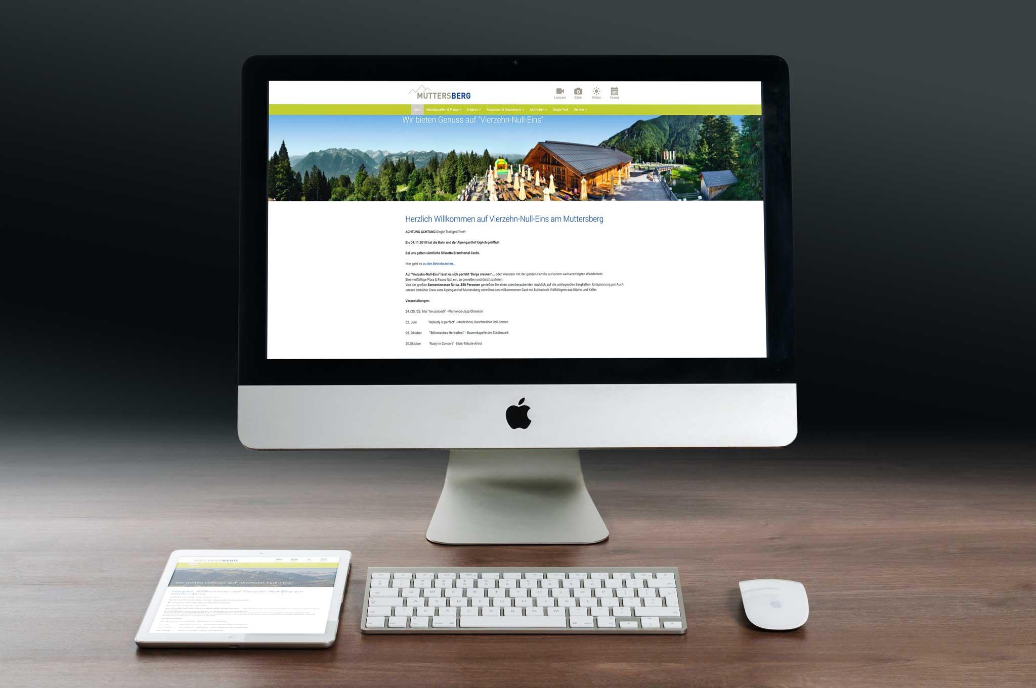 Muttersberg Bergbahnen und Alpengasthof Homepage